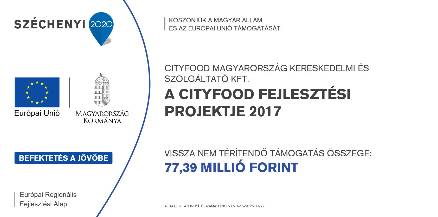 széchenyi 2020 fejlesztési projekt tábla